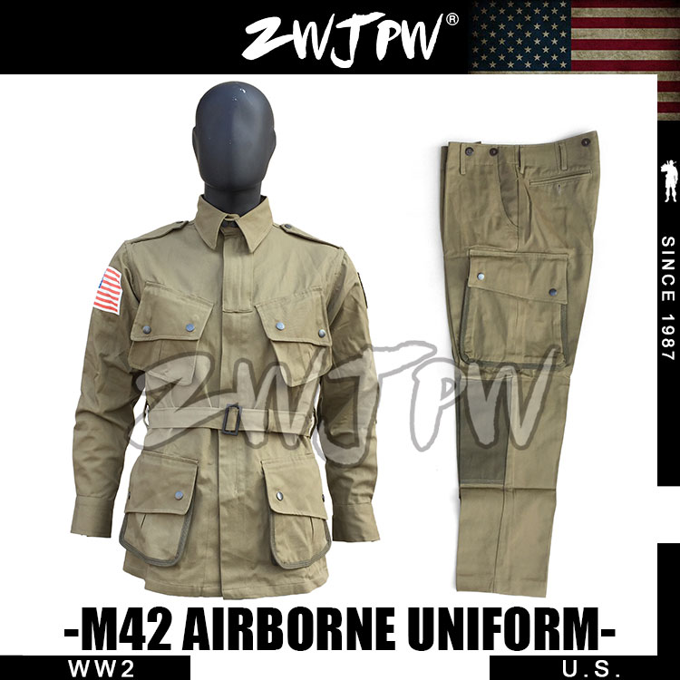 все цены на WWII WW2 US Army M42 Uniform 101 Air Force Paratroopers Troops Suits Tactical Outdoor Jacket &Pants US/501101 онлайн