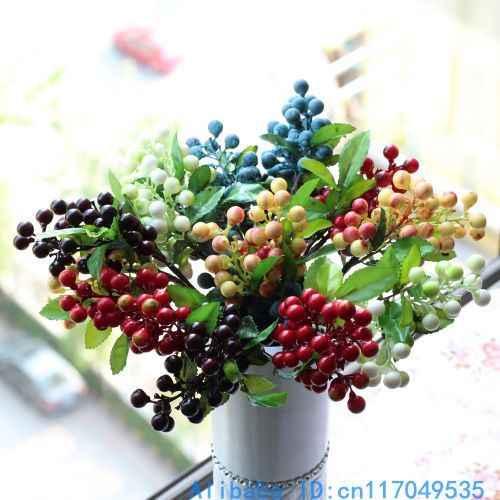 1 PCS Mooie Kunstmatige Bush Berry Boeket Foam Bloem Woondecoratie F176