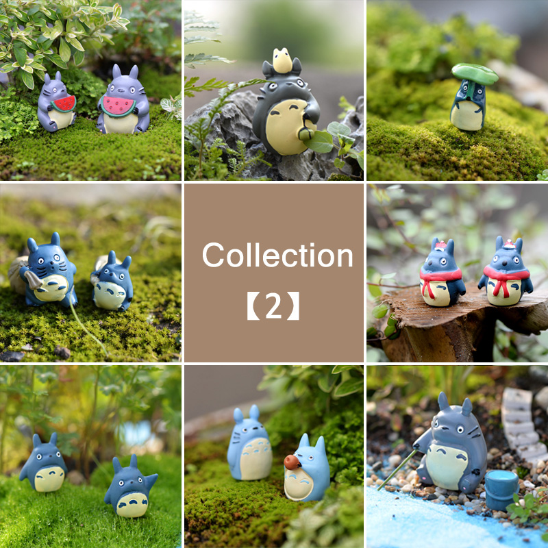 BAIUFOR Totoro Miniatures Terrariums Animals DIY Fairy Garden, Succulents, Desktop Fish Tank Accessories Resin Craft Decor