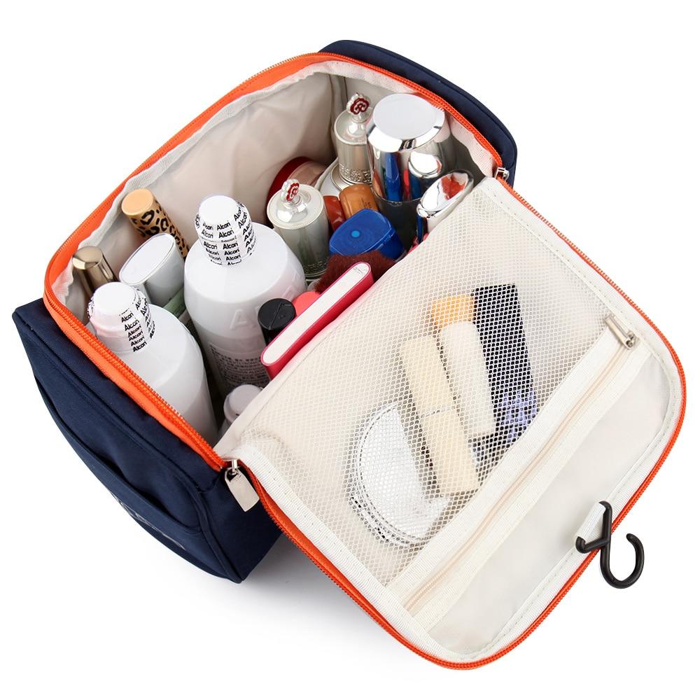 купить New Women and men Large Waterproof Makeup bag Nylon Travel Cosmetic Bag Organizer Case Necessaries Make Up Wash Toiletry Bag по цене 815.29 рублей