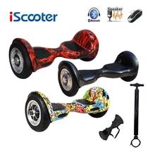 IScooter Bluetooth hoverboard 10 zoll Elektrische Skateboar 2 Rad selbstausgleich Elektroroller zwei Smart Rad mit funkschlüssel