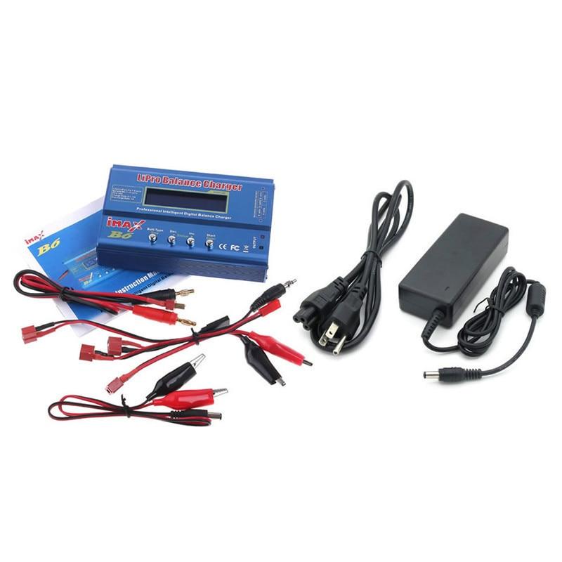 Batterie Lipo Balance chargeur IMAX B6 Lipro chargeur de charge numérique + 12 V 5A alimentation EU US UK AU + T prise câble de charge