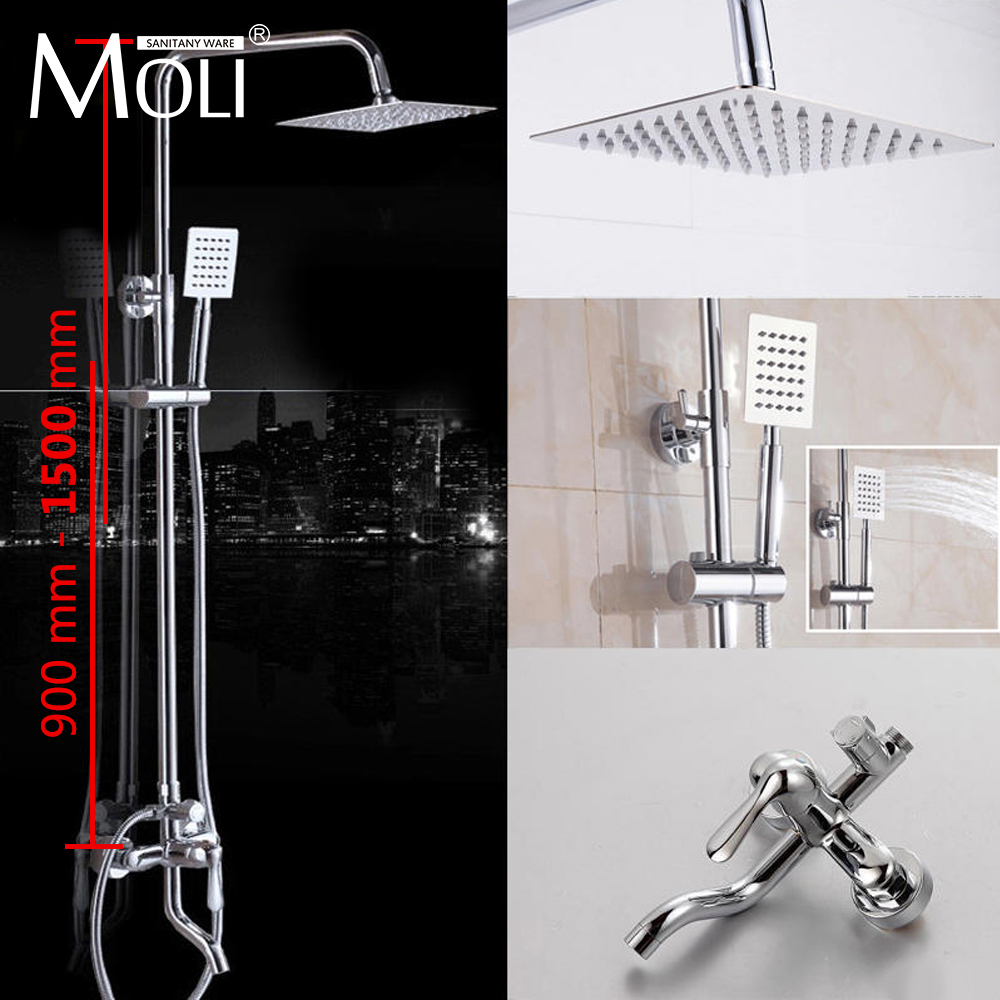 MOLI bathroom shower faucet set bronze bathtub shower faucet Bath Shower tap waterfall shower head wall mixer chrome gappo bathtub faucet bath shower faucet waterfall wall shower bath set bathroom shower tap bath mixer torneira grifo ducha