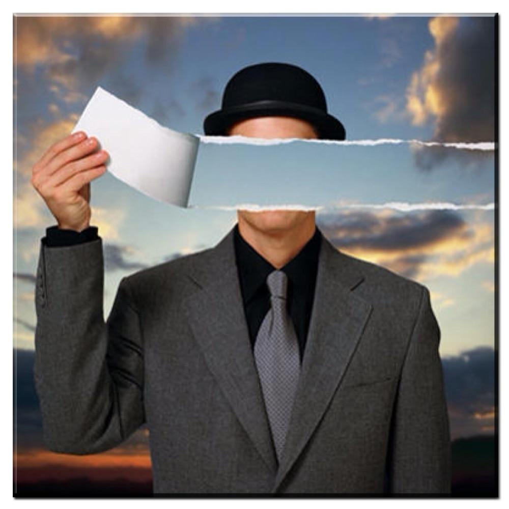 René Magritte Xdr549-Monde-Invisible-1954-Par-Ren-Magritte-Artiste-Morden-Arts-impression-Mur-Peinture-Sur-Toile-Peinture