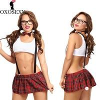OXOSEXY Porn Sexy Underwear Tie School Girl Students Uniform Erotic Lingerie Women Sexy Costumes Skirt Sexy