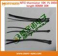 Transporte rápido Livre Ship10pcs/lot sensor de temperatura termistor NTC 10 K 1% 3950 comprimento 80 MM 30 # único segmento termistor