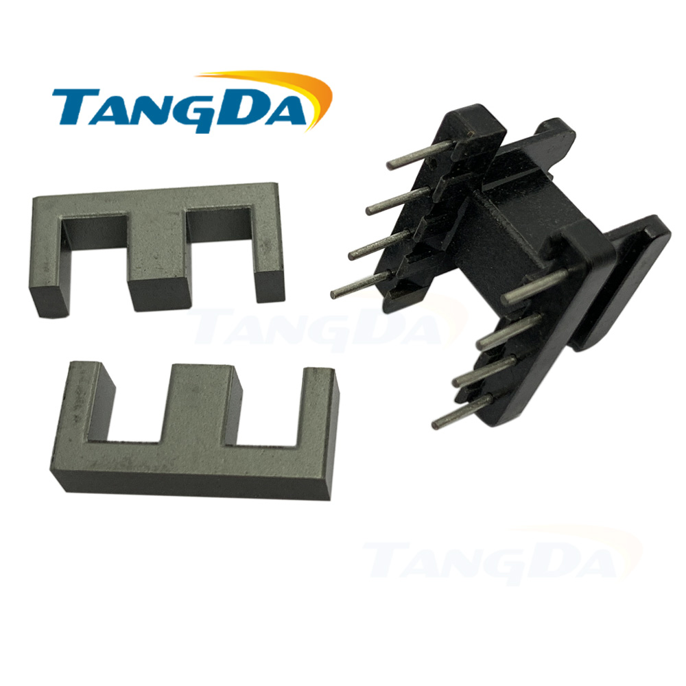 Tangda 8pin EE19 core EE Bobbin magnetic core + skeleton soft magnetism ferrites magnetic core 4+4pin SMPS RF Transformers AG