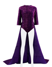 Sing Rosita Dress Cosplay Costume Women Purple Stage for Show Party