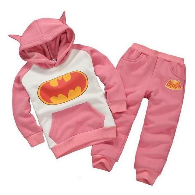 batman set baby boys clothing set children hoodies pants thicken winter warm clothes boys girls sets 2016 autumn new arrival 5