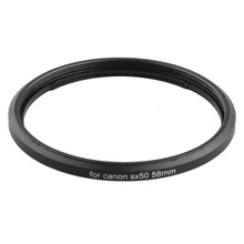 금속 총검 58mm 스레드 UV CPL 필터 마운트 카메라 렌즈 어댑터 링 캐논 파워 샷 SX520 SX40 SX50 SX60 SX70 HS