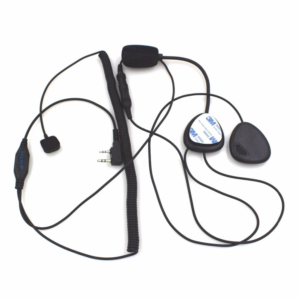 hight resolution of 2 pin finger ptt motorcycle helmet radio headset microphone for kenwood 3207 baofeng uv5r uv5ra ham radio walkie talkie in walkie talkie from cellphones