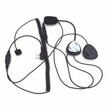 2 Pin palec PTT kask motocyklowy Radio zestaw słuchawkowy z mikrofonem dla Kenwood 3207 BAOFENG UV5R UV5RA Ham Radio Walkie Talkie