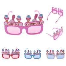 9240ea0a405 Novelty Happy Birthday Ice-cream Shape Glasses Fancy Dress Costume  PartyDress Up Favors Supplies Accessories