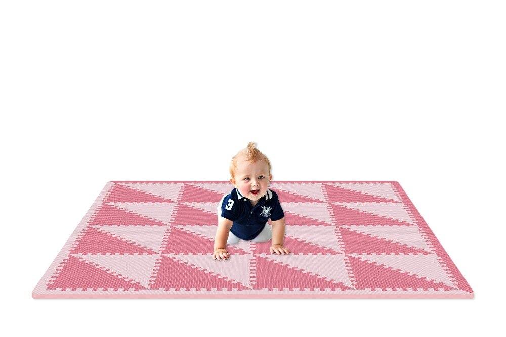 Meiqicool tapis de jeu en mousse EVA pour bébé tapis d'exercice à emboîtement tapis de sol pour enfant, chaque 35 cm X 35 cm, 1 cmd'épaisseur tapis eva
