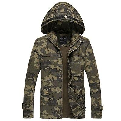 US $58.67  Armee Tarnung Mantel herren Military Hoodies Jacke Regenmantel Outwear Kleidung Air Force Jacke Männer Winter Jacken Und Mäntel in Armee