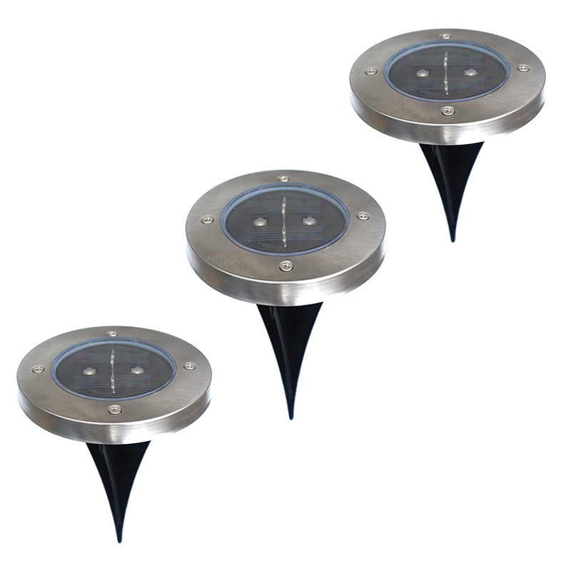Factory direct circular LED underground lamp buried lights embedded underground lamp solar street lamp