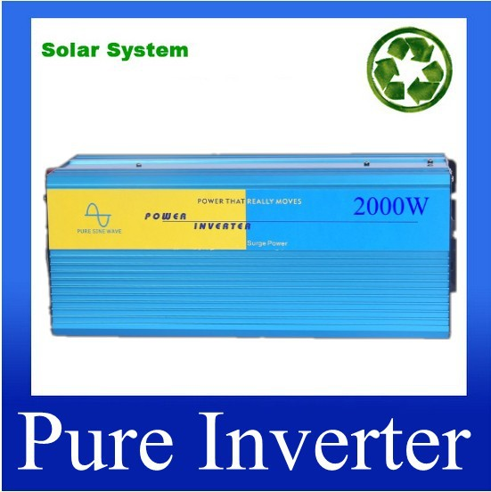 12 Volt 24Volt DC to 120 Volt 220 Volt AC Wind Solar Power Converter 2000W Pure Sine Wave Inverter in Inverters Converters from Home Improvement