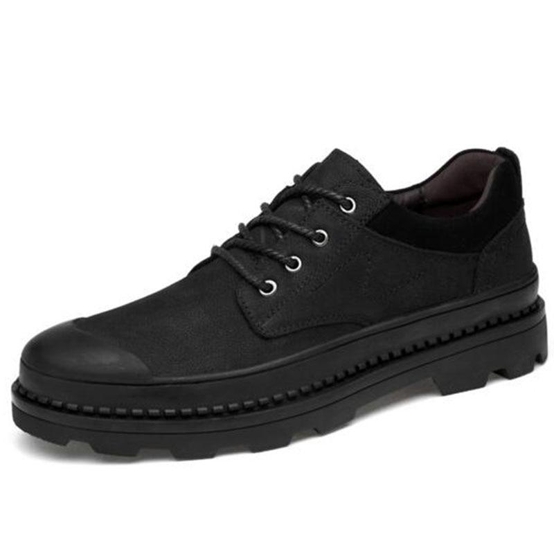 Otoño invierno caliente venta hombres plataforma zapatos de cuero - Zapatos de hombre - foto 4