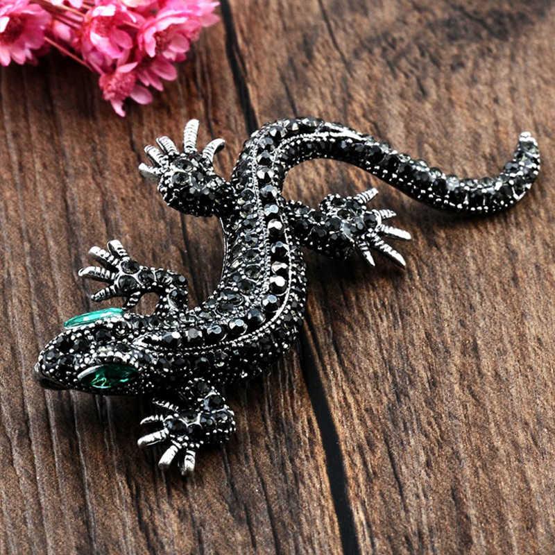 Dijual Crystal Vintage Kadal Bros untuk Wanita Perhiasan Logam Enamel Pria Jas Bros Hewan Pakaian Aksesoris