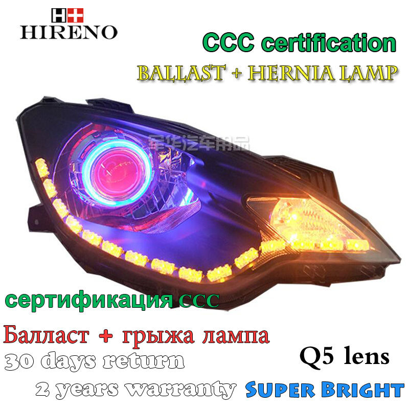 Hireno Modified Headlamp for MG 3 MG3 2011-2015 Headlight Assembly Car styling Angel Lens Beam HID Xenon 2 pcs golf 3 td 2011