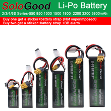 SoloGood Lipo Batteries Li-Po Battery 2S 3S 4S 6S 550mAh 1150mAh 1500mAh 3200mAh 75C 100C RC Fixed Wing Helicopter Racing Drone