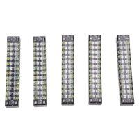 5 unidades  600V  15a  12 posiciones  12 P  doble fila  bloque de terminales de tornillo de barrera cubierto