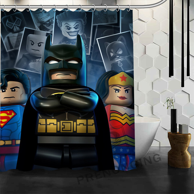 WJY510H13 Custom Lego Batman Trinity joker Fabric Modern Shower ...