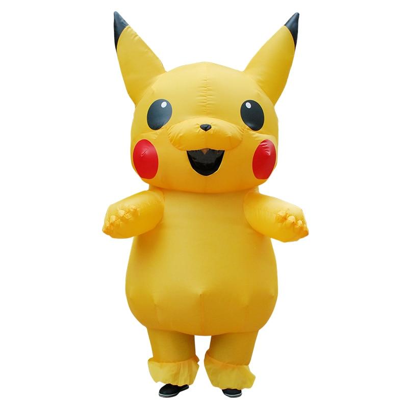 Costume gonflable fantaisie Pokemon Pikachu Halloween Costume de fête de carnaval drôle