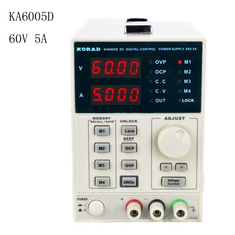 KORAD KA6005D-Précision Variable Réglable 60 v, 5A DC Linéaire Alimentation Numérique Réglementé Lab Année
