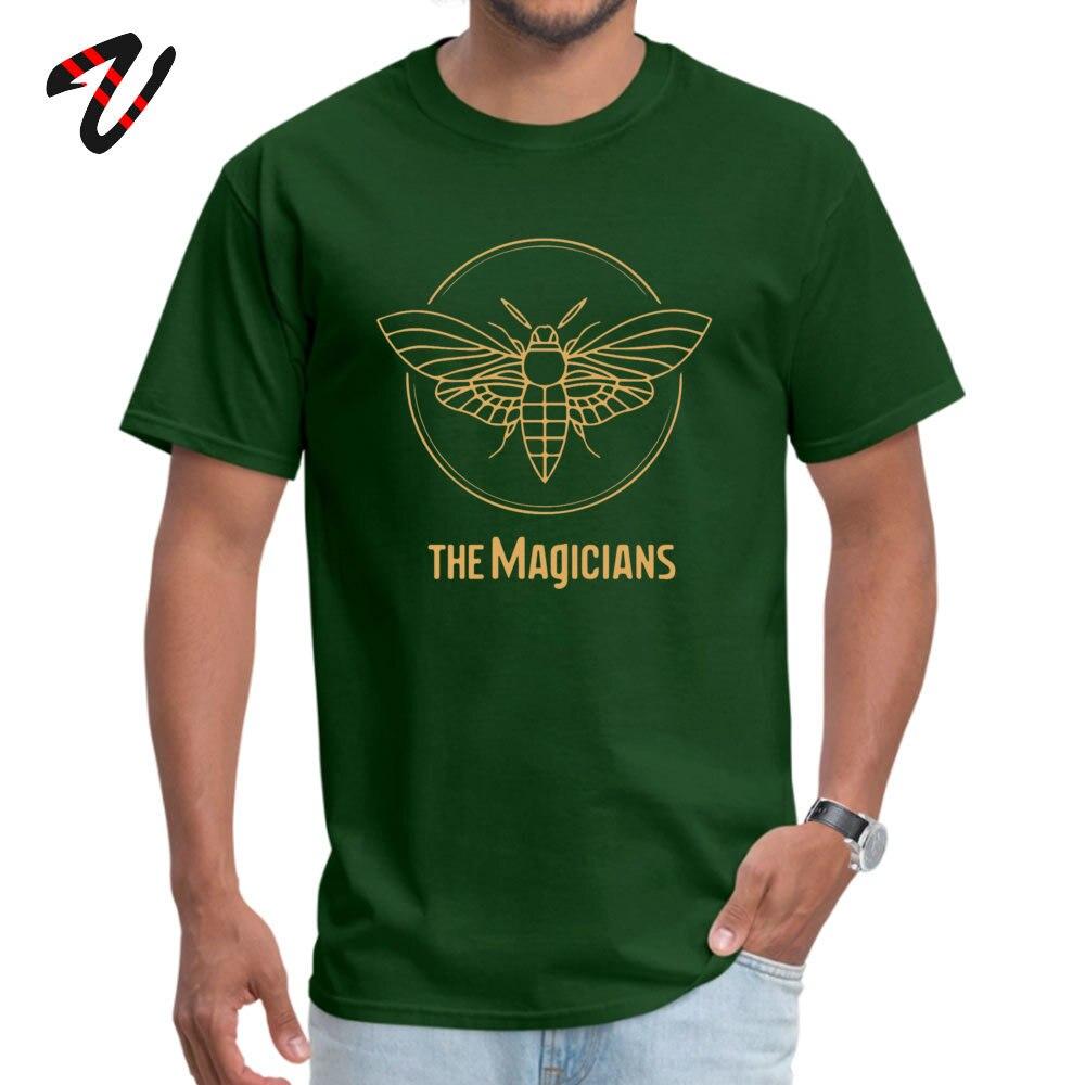 Wholesale Men T Shirt the magicians Summer Tops Shirt 100% Cotton Short Sleeve comfortable Tops Shirts Round Neck the magicians -18790 dark