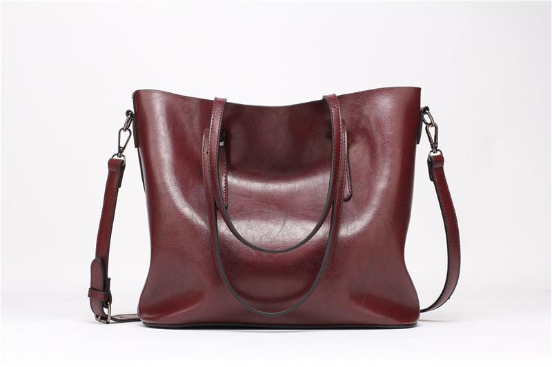 DIDA BEAR Brand Women Leather Handbags Lady Large Tote Bag Female Pu Shoulder Bags Bolsas Femininas Sac A Main Brown Black Red 2