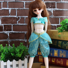 Subcluster 1 Set BJD / SD Doll Clothes Ladies DressPrincess Skirt Anna Elsa 1/4 BJD Doll accessories new pink blue long skirt dress western style clothes 1 3 1 4 bjd sd msd doll clothes