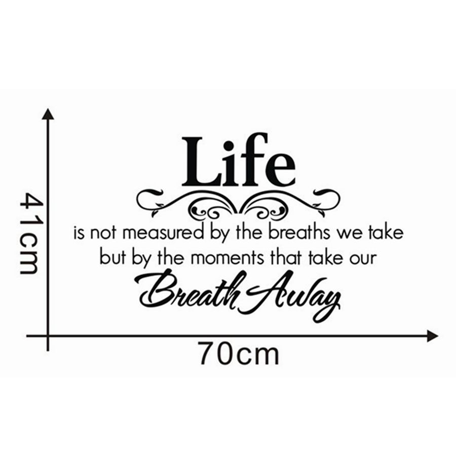 "Life Is Not Measured Quote Life Is Not Measuredthe Breaths."" Quotes Creative Vinyl Wall"