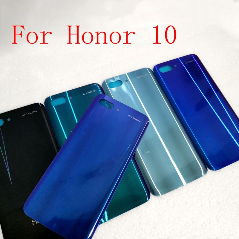 For Huawei Honor 10 Back Battery Glass Cover Panel Honor10 Rear Door Case For Huawei Honor 10 Back Cover Housing