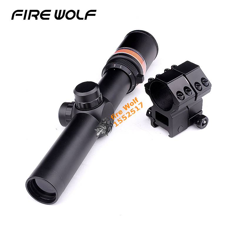 2018 New 1.5-6x24 Fiber Optic Scope Red Green Triangle Illuminated Telescopic Rifle Scope Riflescope For Huntin Ak 47 Telescope