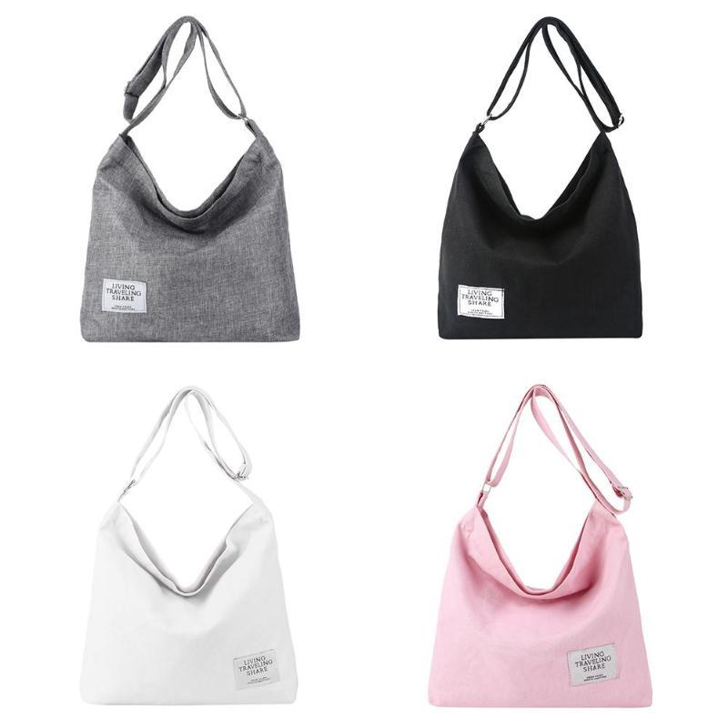 Canvas Crossbody Shoulder Bags Women Girls Totes Large Capacity Casual Messenger Bags Handbags Bolsas Feminina Mujer