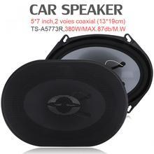2 Pcs 5x7 Inch 380W Car HiFi Coaxial Speaker Vehicle Door Au