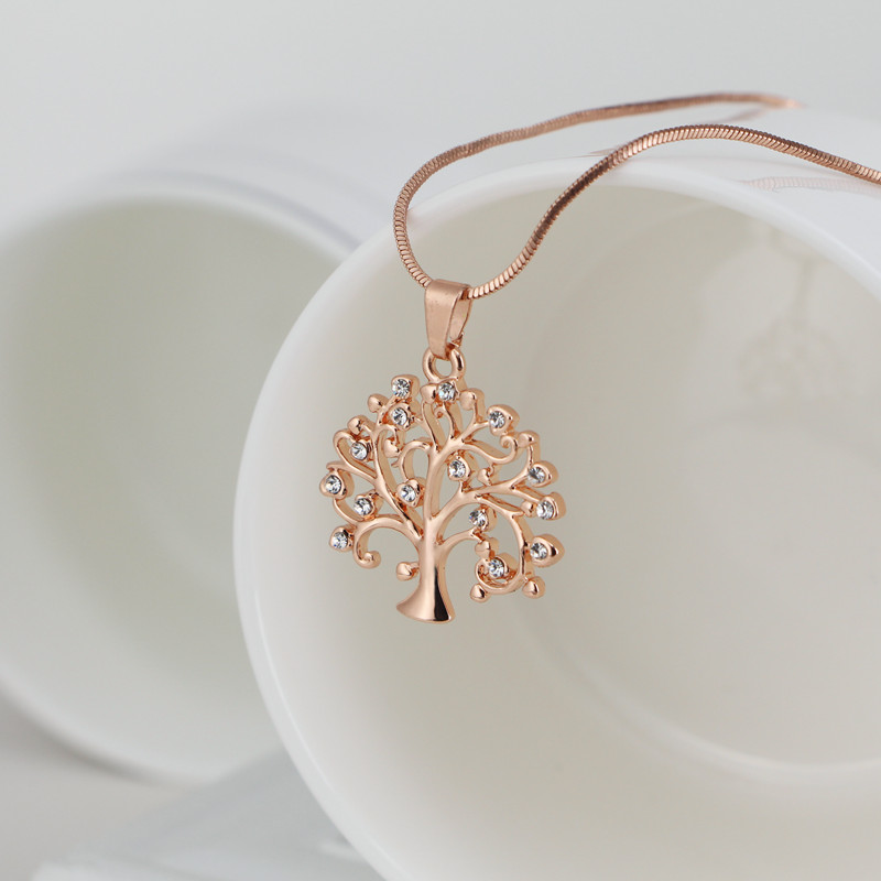 Tree Of Life Pendant Necklace Women Jewelry Fashion 2017 Crystal