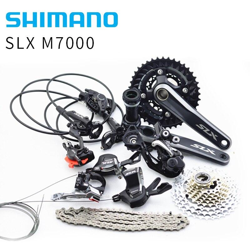 Shimano SLX Drivetrain M7000 Group MTB bike bicycle Group Set 1x11s/2x11s 11/22 speed стоимость