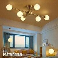 lamparas de techo Ceiling LED Lamps for Living Room Glass Lampshade Bedroom Hanging Lamp G9 LED Light Chandelier Lighting