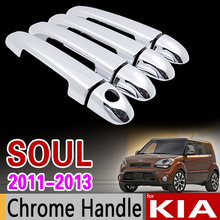 לנשמת KIA 2011 2012 2013 Cover ידית דלת Chrome Trim אף פעם לא חלודה סט עבור דגם מתיחת פנים אבזרים לרכב מדבקות רכב סטיילינג