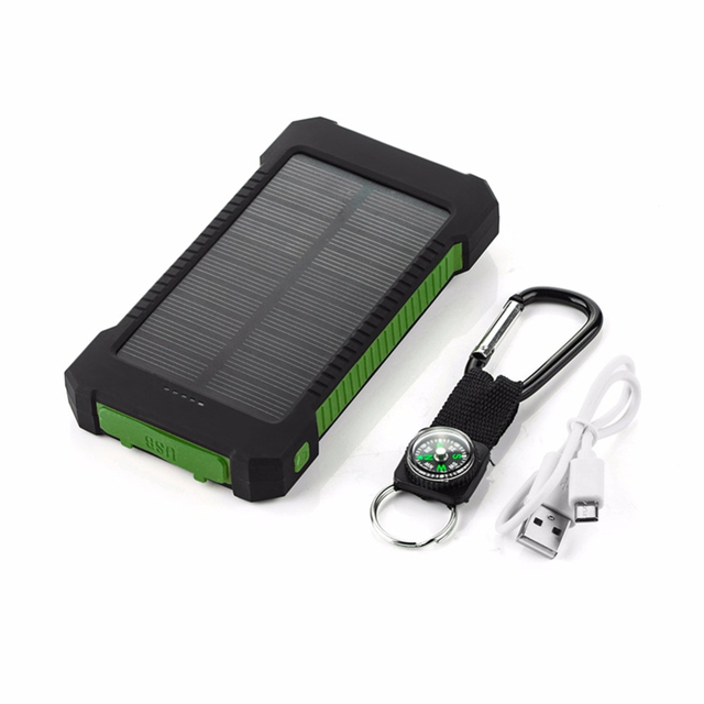 Solar Power Bank 20000mAh External Battery For Xiaomi iPhone 7 8 X Xs Max Portable DUAL Ports Powerbank Mobile Charger Poverbank 1