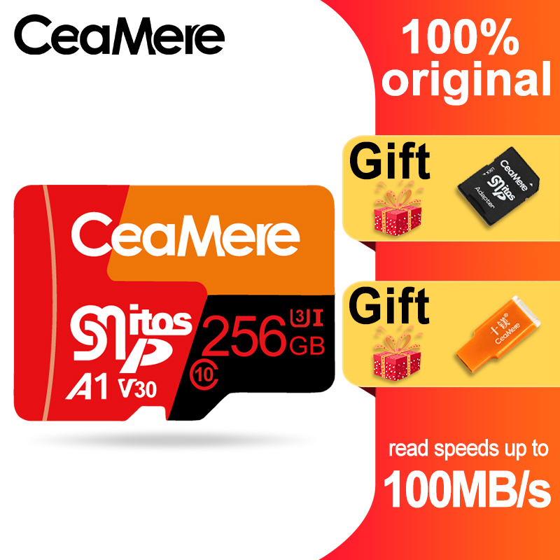 CeaMere Micro SD Card  Class10 UHS 1 8GB Class6 16GB/32GB U1 64GB/128GB/256GB U3 Memory Card Flash Memory Microsd for Smartphone-in Memory Cards from Computer & Office