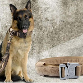 High quality Military Tactical Dog Collar Hunting Airsoftsports Paintball Gear Law Enforcement Dog Training Accessories 1
