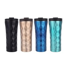 Thermos Bottle  Design With Straw Stainless Steel Vacuum Creative Business Coffee Mug With Irregular Shape L521