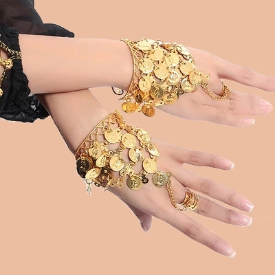Dance Wear Bollywood Jewelry For Dance Bracelets 1 Pair Jewelry Set Indian Jewelry Accessories
