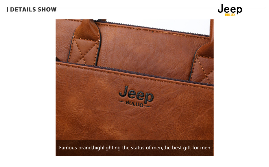 HTB16YRGRAvoK1RjSZFwq6AiCFXao JEEP BULUO Brand High Quality 14 inch Laptop Business Bags Men Briefcases Set For Handbags Leather Office Large Capacity Bags