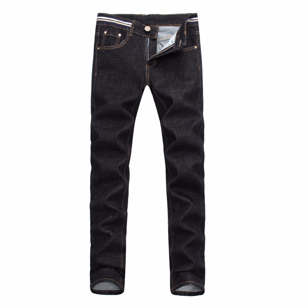 Thin section Black jeans Men casual pants spring and autumn Little feet pants designer brand pants
