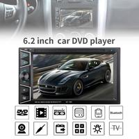 6.2 Inch 2 DIN Bluetooth HD Touch Screen Car In Dash FM Radio Receiver DVD CD Player with Wireless Remote Control