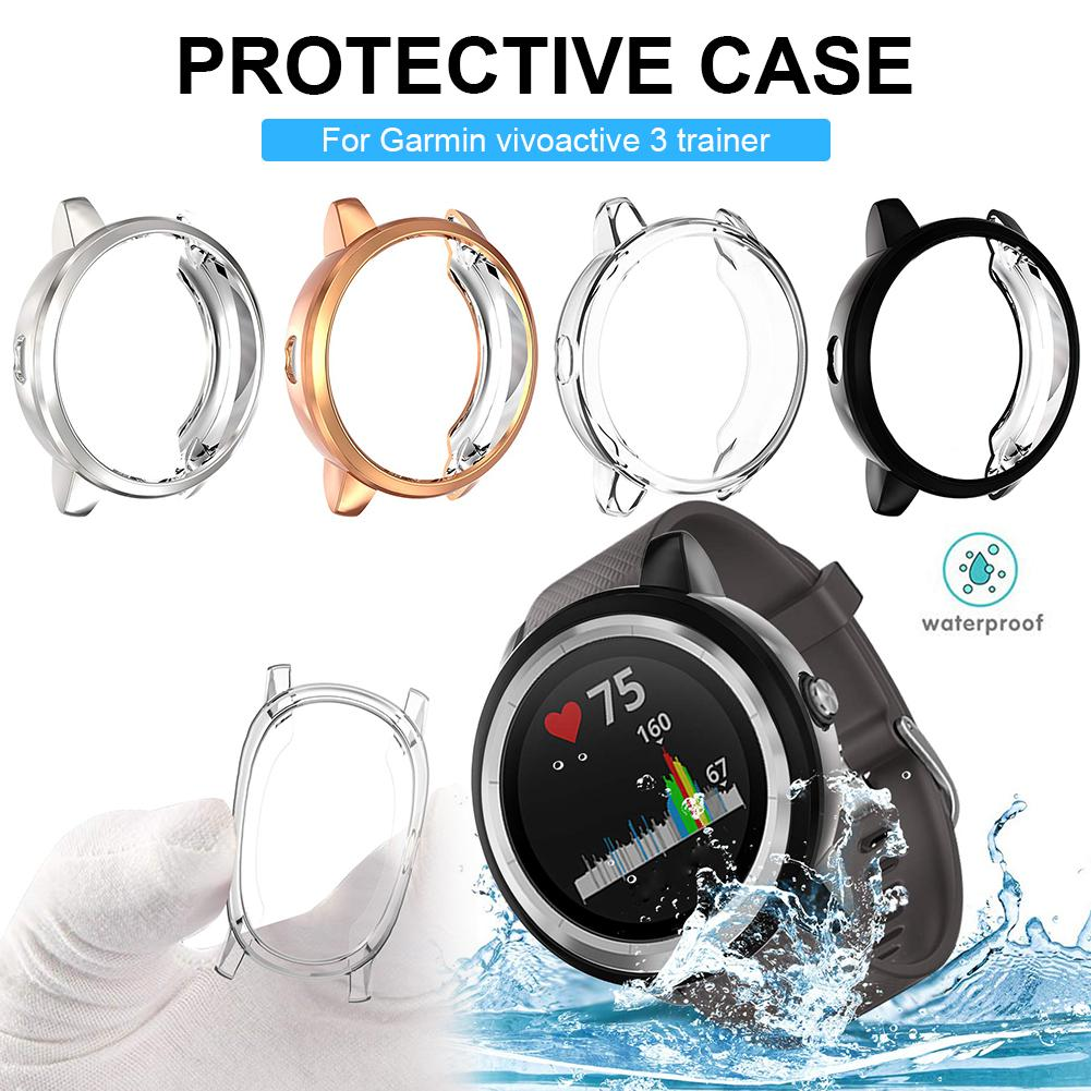 Protector Cover All-Around Protector Cover Bumper Waterproof Dustproof Scratch-Proof For Garmin Vivoactive 3 Trainer/music